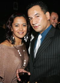 Peata Melbourne and Temuera Morrison at the Air New Zealand Screen Awards.