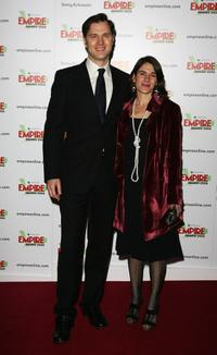 David Morrissey and guest at the Sony Ericsson Empire Film Awards.