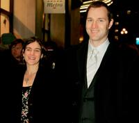 David Morrissey and wife Esther Freud at the UK premiere of