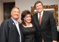 Neil Sedaka, Connie Francis and Cousin Brucie Morrow at the tribute to Sedaka's fifty years in music.