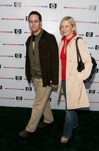Rob Morrow and wife Debbon Ayer at the Premiere of