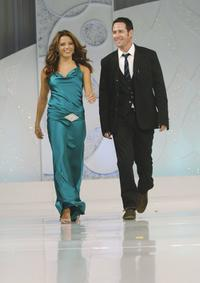 Rob Morrow and Jenna Dewan walk the catwalk at Runway For Life Benefiting St. Jude.