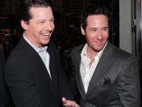 Rob Morrow and Sean Hayes at the premiere of Warner Bros.