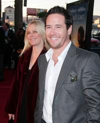 Rob Morrow and and his wife Debbon at the premiere of Warner Bros.
