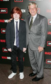 Robert Morse and Guest at the premiere of