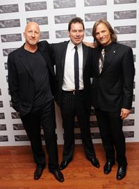 Director John Hillcoat, Joe Penhall and Viggo Mortensen at the London premiere of