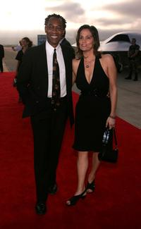 Joe Morton and guest at the premiere of