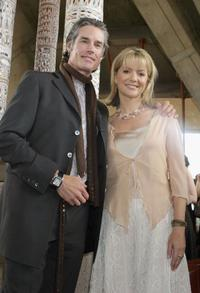 Ronn Moss and Sandra Sully at the Cartier Party on Melbourne Cup Day.