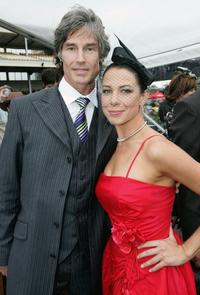 Ronn Moss and Kate Ritchie at the Fashions on the Field at 2005 Derby Day.