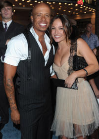 Jamal Sims and Briana Evigan at the California premiere of