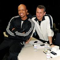 Jamal Sims and Adam Shankman pose at the open dance auditions for the 82nd Academy Awards.