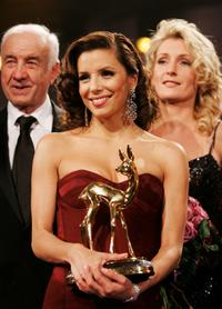 Armin Mueller-Stahl, Eva Longoria and Maria Furtwaengler at the annual Bambi Awards.