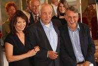 Armin Mueller-Stahl, Iris Berben and Heinrich Breloer at the photocall for
