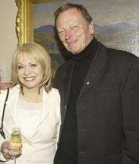 Jackie Weaver and John Bell at the Australian National Shakespeare Company salute dinner.
