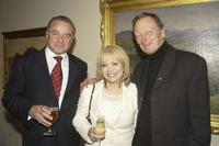 Sean Taylor, Jackie Weaver and John Bell at the Australian National Shakespeare Company salute dinner.