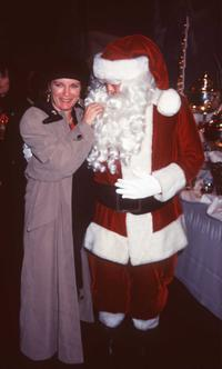 Kate Mulgrew and Santa Claus at the Hollywood Christmas Parade.