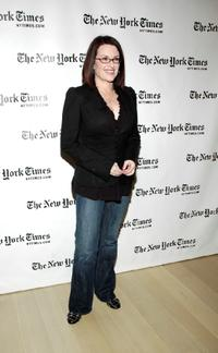 Megan Mullally at the New York Times Arts & Leisure Week.