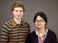 Michael Cera and Charlyne Yi at the 2009 Sundance Film Festival.