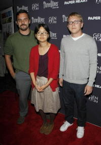 Jake M. Johnson, Charlyne Yi and Nicholas Jasenovec at the screening of