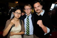 Charlyne Yi, Director/producer Nick Jasenovec and Jake Johnson at the screening of