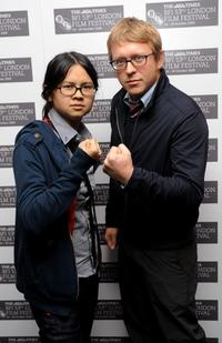 Charlyne Yi and Nicholas Jasenovec at the premiere of