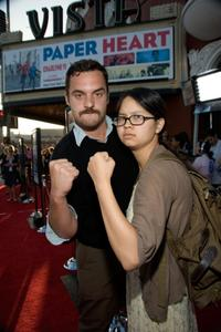 Jake Johnson and Charlyne Yi at the Los Angeles screening of