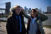 Director Nicholas Jasenovec and Charlyne Yi on the set of
