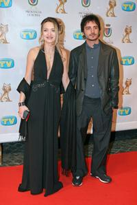 Carolina Crescentini and Nicolas Vaporidis at the Italian TV Awards