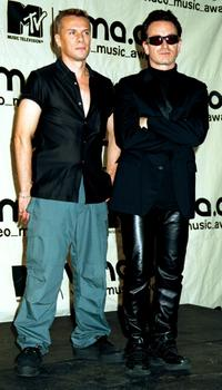 Larry Mullen, Jr. and Bono at the MTV Video Music Awards.
