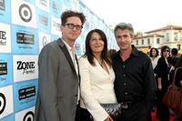 Kieran Mulroney, Michele Mulroney and Dermot Mulroney at the premiere of