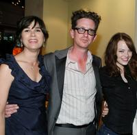 Rebecca Yeldham, Kieran Mulroney and Emma Stone at the premiere of