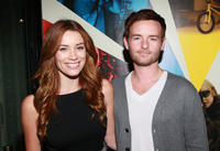 Arielle Vandenberg and Christopher Masterson at the California premiere of