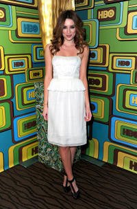 Arielle Vandenberg at the 2011 Golden Globe Awards party in California.