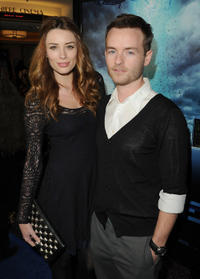 Arielle Vandenberg and Chris Masterson at the California premiere of