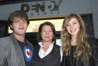 Harry Cook, Sarah Woods and Morgan Griffin at the official launch for the Sydney Film Festival.