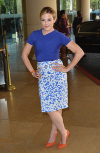 Julie Mond at the 2012 TCA Summer Press Tour in California.
