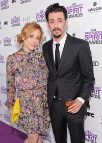 Julie Mond and producer Josh Mond at the 2012 Film Independent Spirit Awards in California.