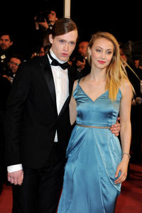 Caleb Landry Jones and Sarah Gadon at the France premiere of