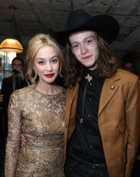 Sarah Gadon and Caleb Landry Jones at the Grey Goose Vodka party for