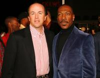Eddie Murphy and John Davis at the premiere of Dreamworks'