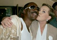 Eddie Murphy and Julie Andrews at the premiere of Dreamworks'