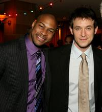 Finesse Mitchell and Adam Rothenberg at the after party of the premiere of