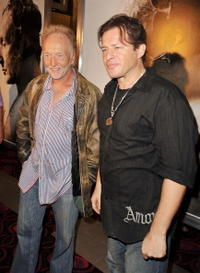 Tobin Bell and Costas Mandylor at the premiere of