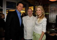 Hayes MacArthur, chef Tom Colicchio and Ali Larter at the FEED Foundation/Hungry In America project benefit hosted by Vanity Fair.
