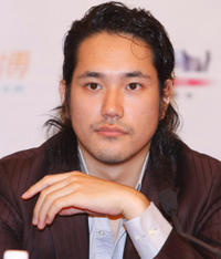 Kenichi Matsuyama at the press conference of