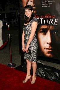Zoe Kazan at the premiere of