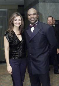 Denise Quinones and Evander Holyfield at the