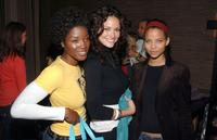 Yolanda Ross, Denise Quinones and Denise Vasi at the People En Espanol Celebration of 50 Most Beautiful Gifting Suite.