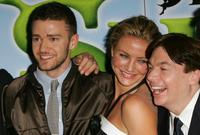 Mike Myers, Justin Timberlake and Cameron Diaz at the UK film premiere of