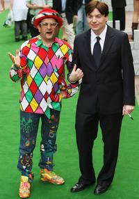 Mike Myers and Timmy Mallett at the British Premiere of